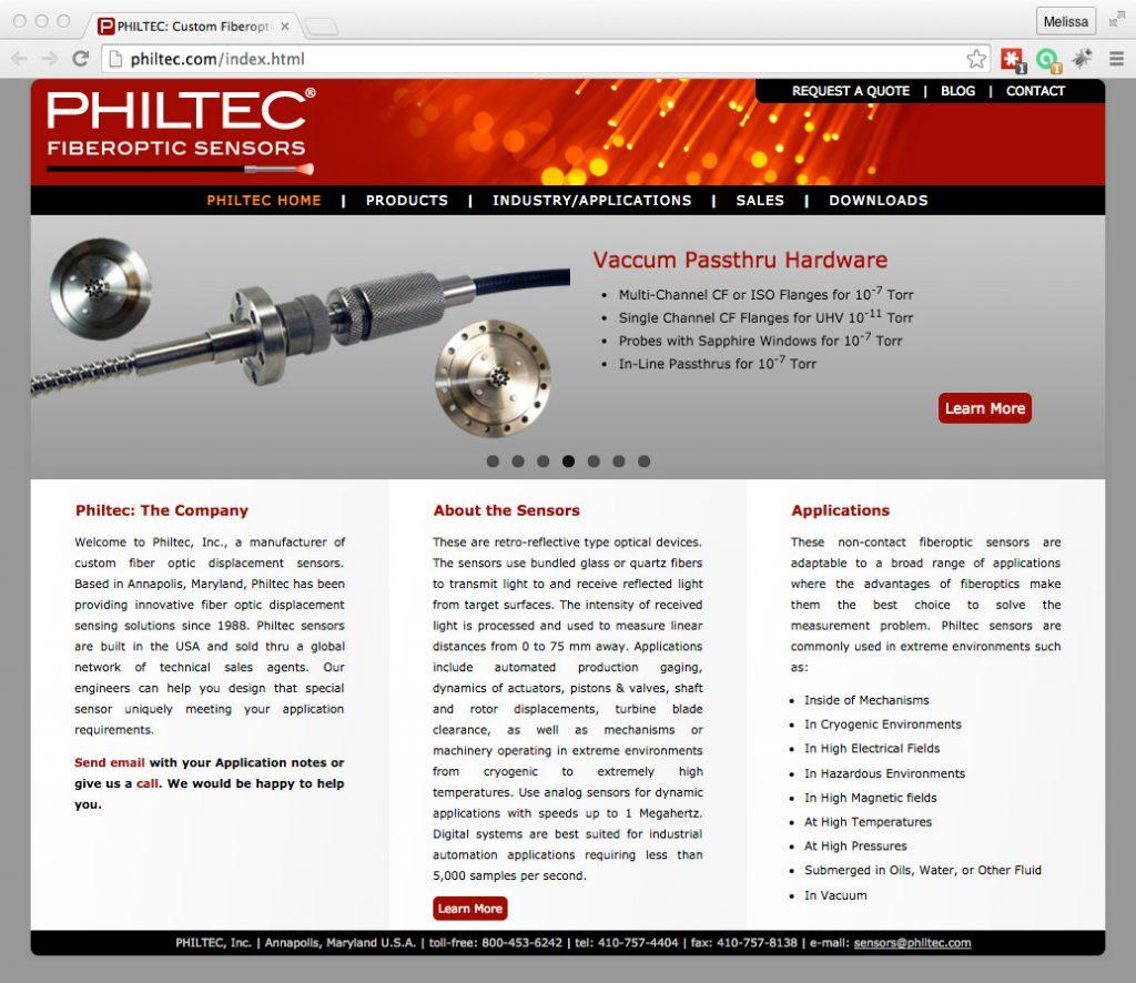 philtec.com screenshot