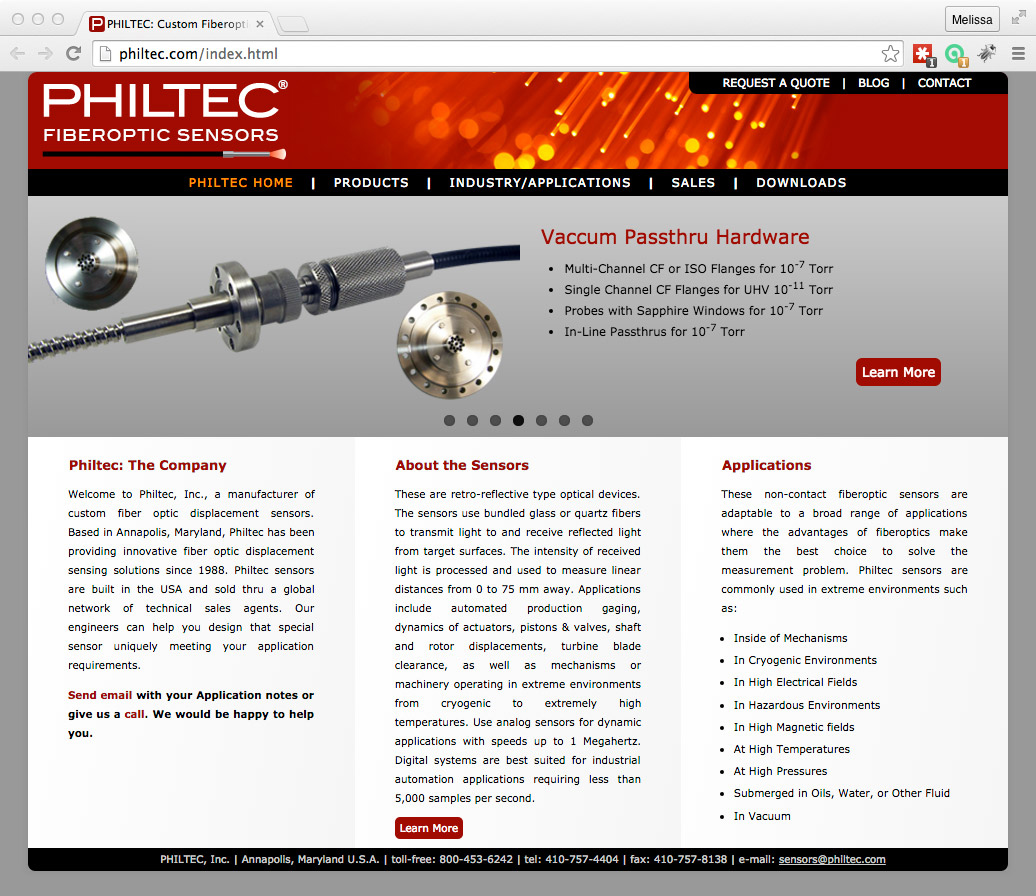 philtec.com screenshot