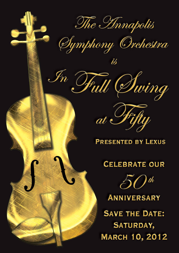 ASO Full Swing at 50 Gala Fundraiser Invitation