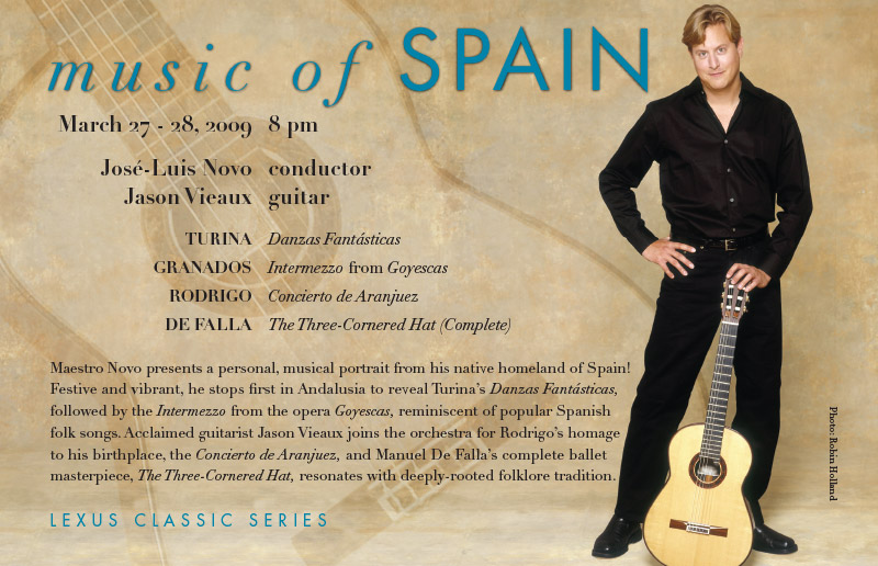 ASO Music of Spain Postcard