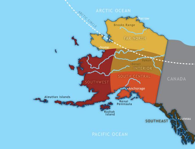 Alaska Orchid Map