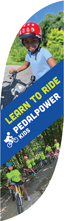 Pedal Power Kids Flag Art